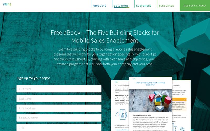 The Five Building Blocks for Mobile Sales Enablement