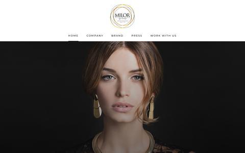 Screenshot of Home Page milor.com - Milor – Milor-store - captured Dec. 20, 2018