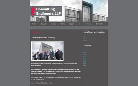 Screenshot of Press Page rsp.net - RSP Consulting Engineers LLP - News - captured Feb. 22, 2016