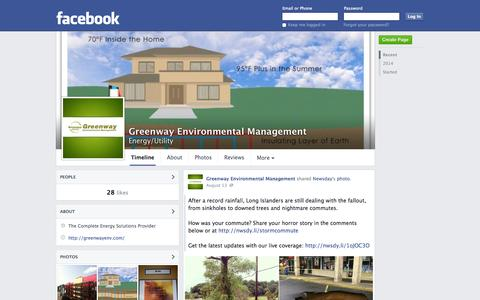 Screenshot of Facebook Page facebook.com - Greenway Environmental Management - Calverton, New York - Energy/Utility | Facebook - captured Oct. 27, 2014