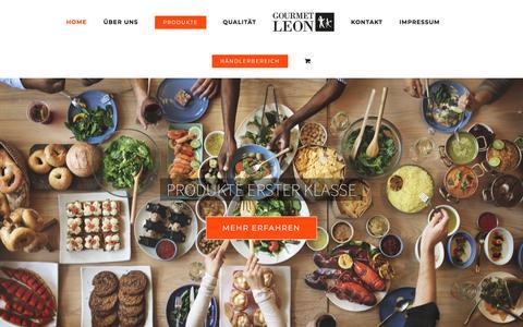 Screenshot of Home Page gourmet-leon.de - Gourmet Leon – Wir lieben Feinkost - captured May 1, 2018