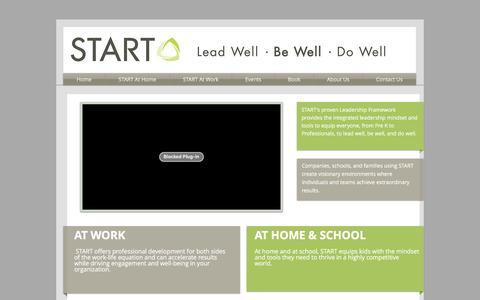Screenshot of Home Page start-leadership.com - START Leadership - captured Dec. 19, 2015