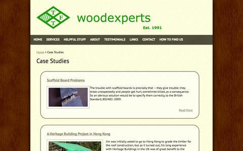 Screenshot of Case Studies Page woodexperts.com - Case Studies | TFT Woodexperts - captured Oct. 26, 2014