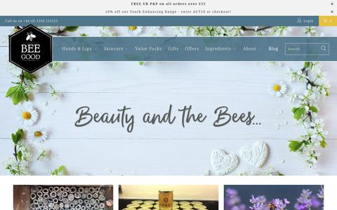Screenshot of Press Page beegood.co.uk - The Bee Good Blog - Beauty and the Bees - captured Oct. 5, 2018