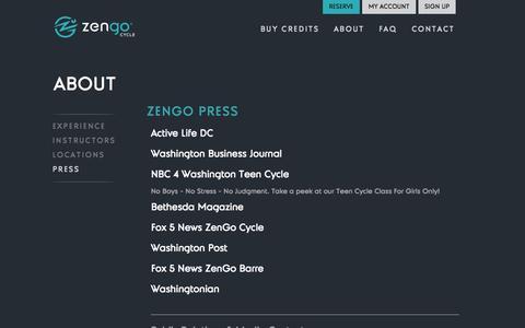 Screenshot of Press Page zengocycle.com - Press | Zengo Cycle - captured Oct. 27, 2014