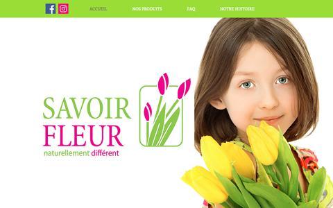 Screenshot of Home Page savoirfleur.com - savoirfleur - captured Dec. 8, 2018