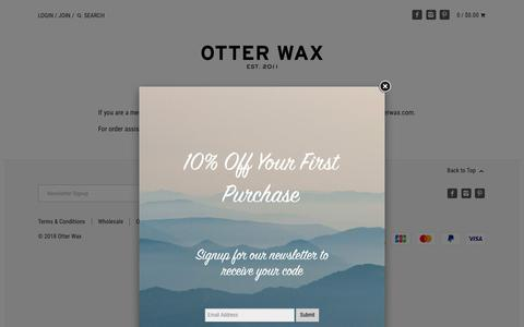 Screenshot of Press Page otterwax.com - PRESS – Otter Wax - captured Oct. 20, 2018
