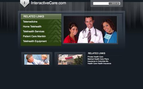 Screenshot of Home Page interactivecare.com - Interactive Care - captured Sept. 26, 2014