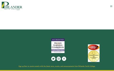 Screenshot of Contact Page philander.edu - Contact Us — Philander Smith College - captured July 30, 2017