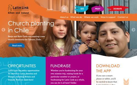 Screenshot of Home Page latinlink.org.uk - Latin Link | Home - captured Sept. 27, 2018