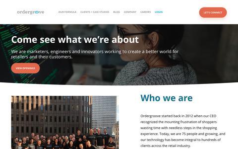 Screenshot of Jobs Page ordergroove.com - OrderGroove Careers | Relationship Commerce - captured Nov. 10, 2018