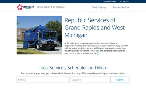 Grand Rapids & West Michigan - Trash & Recycle Services | Republic Services