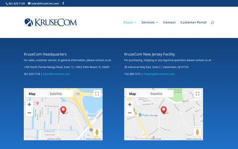 Screenshot of Locations Page krusecom.com - Locations | KruseCom, Inc. - captured Sept. 20, 2018
