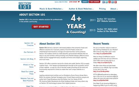 Screenshot of About Page section101.com - About Section 101 : Section 101 - captured Sept. 17, 2014