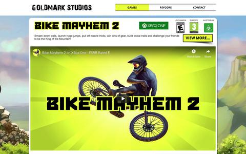 Screenshot of Home Page goldmarkstudios.com - Goldmark Studios | Vancouver Boutique Indie Game Studio - captured Dec. 15, 2018