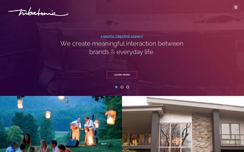 Screenshot of Home Page tubatomic.com - Tubatomic | Digital Creative Agency |  Chattanooga, TN  | Interactive & Web Design - captured Aug. 12, 2015