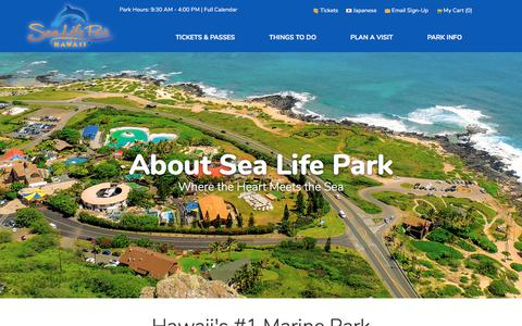 Screenshot of About Page sealifeparkhawaii.com - About Sea Life Park | Sea Life Park Hawaii - captured Sept. 21, 2018
