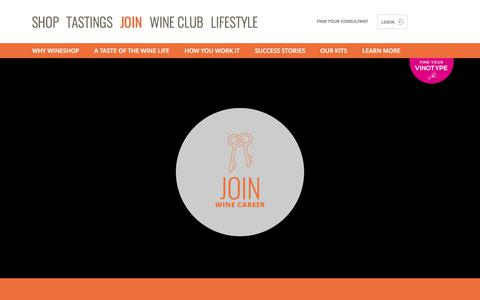 Screenshot of Signup Page wineshopathome.com - Join and Build a Career in the World of Wine - captured June 13, 2017