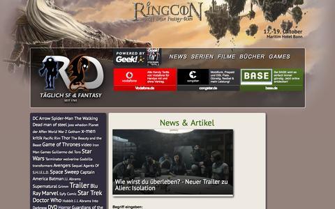 Screenshot of Press Page robots-and-dragons.de - Robots & Dragons | Täglich SF & Fantasy - captured Sept. 19, 2014