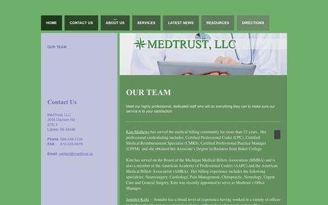 Screenshot of Team Page medtrust.us - Our Team | MedTrust, LLC - captured Feb. 12, 2016