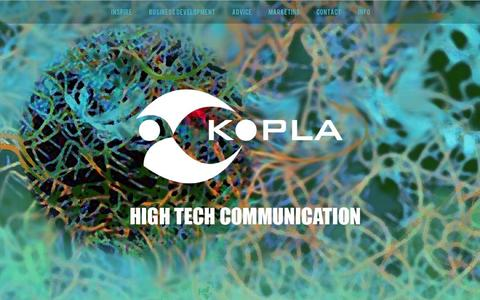 Screenshot of Home Page kopla.nl - Kopla High Tech Communication - captured Oct. 8, 2014