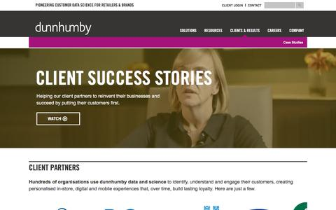dunnhumby - Delivering results for top retailers & brands worldwide