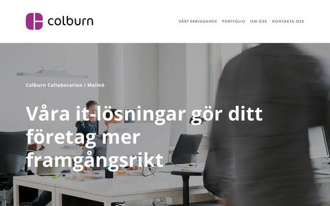 Screenshot of Home Page colburn.se - Colburn Collaboration AB - captured Sept. 28, 2018