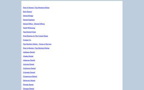 Screenshot of Site Map Page topdentistsonline.com - Site Map - captured Nov. 2, 2014