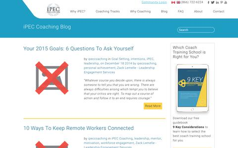 Screenshot of Team Page ipeccoaching.com - iPEC Coaching Blog | leadership - captured Jan. 14, 2018