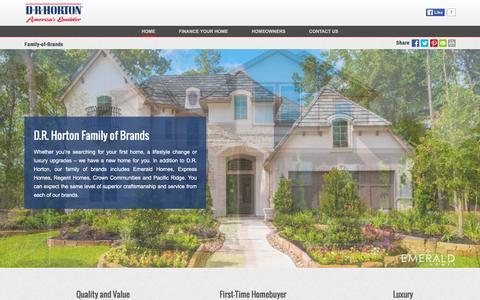 Screenshot of drhorton.com - Family of Brands | D.R. Horton - captured March 19, 2016