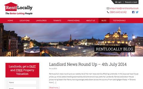 Screenshot of Blog rentlocally.co.uk - Blog - RentLocally - captured Aug. 15, 2015