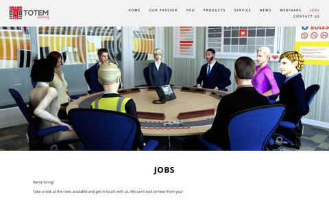 Screenshot of Jobs Page totemlearning.com - Jobs — Totem Learning - captured Nov. 18, 2018
