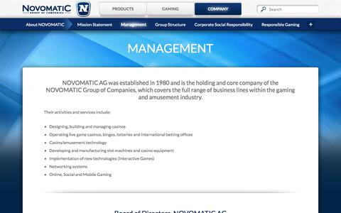 Screenshot of Team Page novomatic.com - Management - Novomatic - captured Oct. 7, 2014