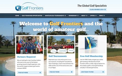 Screenshot of Home Page golffrontiers.com - Home - Golf Frontiers - captured Oct. 3, 2014