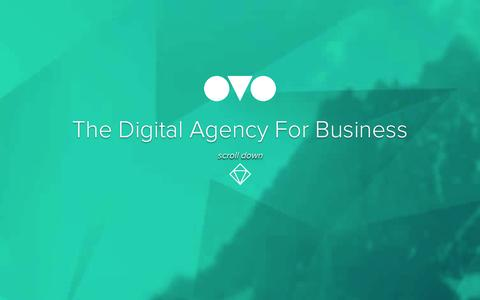 Screenshot of Home Page ovo.ie - OVO | The Digital Agency For Business - captured Oct. 7, 2014