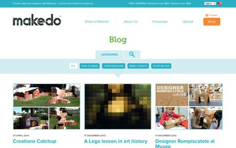 Screenshot of Blog mymakedo.com - Blog | Makedo - captured Sept. 19, 2014