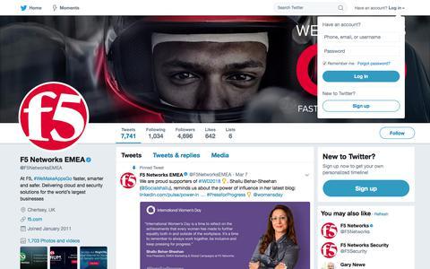F5 Networks EMEA (@F5NetworksEMEA)   Twitter