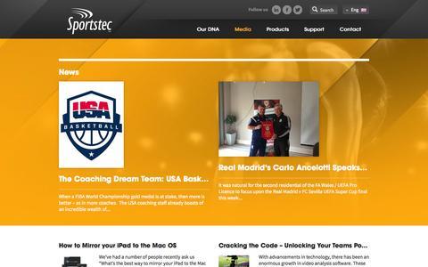Screenshot of Press Page sportstec.com - News » Sportstec - captured Oct. 7, 2014