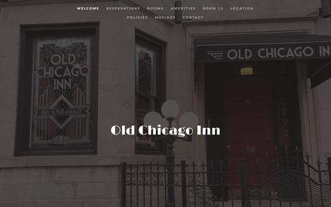 Screenshot of Home Page oldchicagoinn.com - Old Chicago Inn - captured July 9, 2018