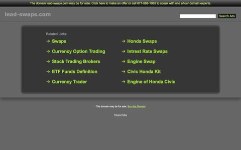 Screenshot of Home Page lead-swaps.com - Lead-Swaps.com - captured July 11, 2017