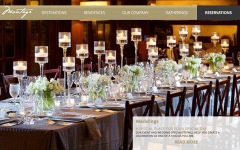 Screenshot of Home Page montagehotels.com - Hotel Management Companies | Montage Hotels & Resorts | Sustainable Hotel Design & Development - captured Oct. 1, 2015