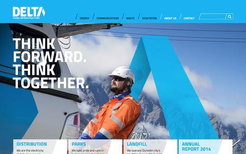 Screenshot of Home Page thinkdelta.co.nz - Home » Delta - captured Oct. 5, 2014