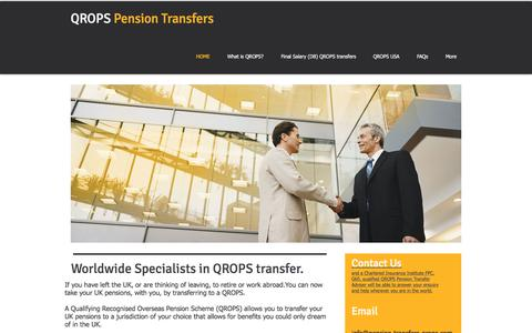 Screenshot of Home Page pension-transfers-qrops.com - QROPS advice for your QROPS transfer - captured June 28, 2017