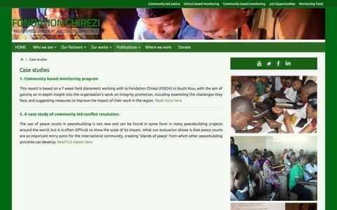 Screenshot of Case Studies Page fochi.org captured June 2, 2016