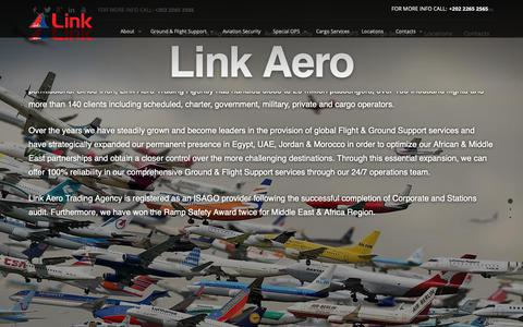 Screenshot of About Page linkagency.com - About Us - Link Aero Trading Agency - captured Sept. 29, 2018