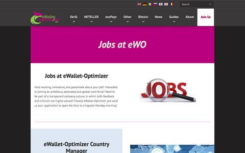 Screenshot of Jobs Page ewallet-optimizer.com - eWallet-Optimizer • Jobs at eWO - captured Sept. 23, 2018
