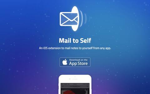 Screenshot of Home Page mailtoself.com - Mail to Self - captured Dec. 13, 2014