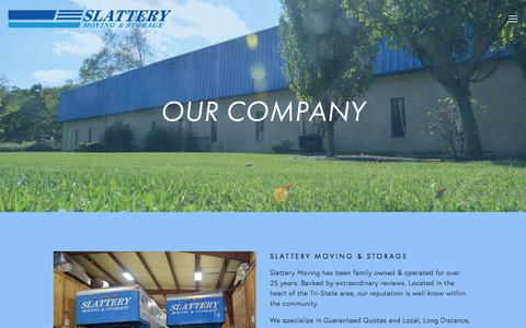 Screenshot of About Page slatterymoving.com - About Us — Slattery Moving & Storage - captured Feb. 15, 2016