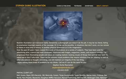 Screenshot of About Page stephendurke.com - About/Contact - captured Oct. 7, 2014