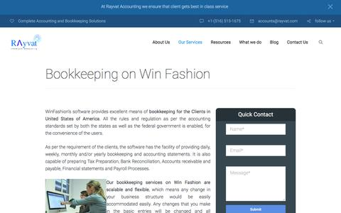 Win Fashion Bookkeeping Services In Usa